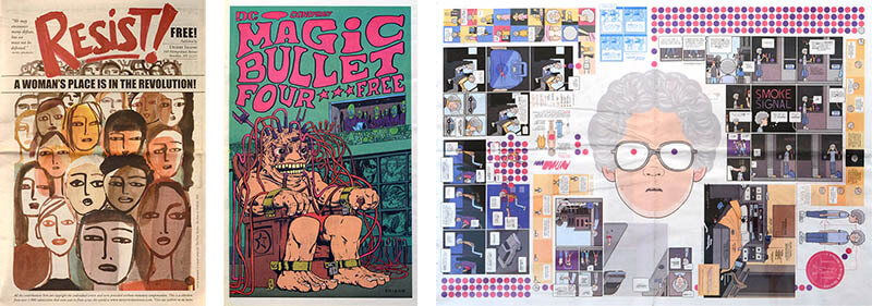 Covers of Resist!, Magic Bullet #4, and Smoke Signal